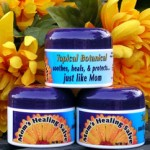 containers of moms healing salve from baileys naturals